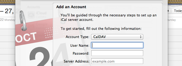 Setting up CalDAV and CardDAV with Daylite