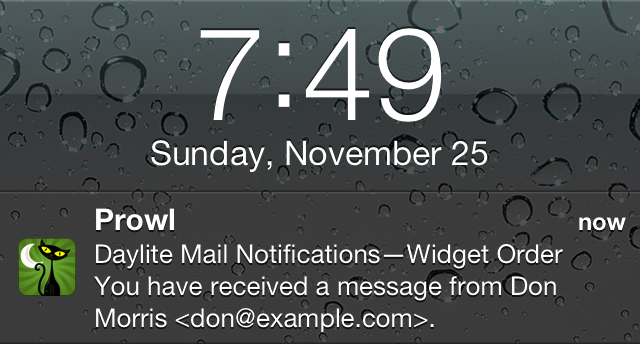 Daylite Mail Notifications
