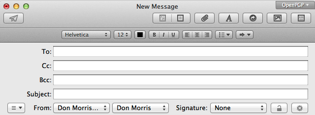 A Default Composition Font for Mail