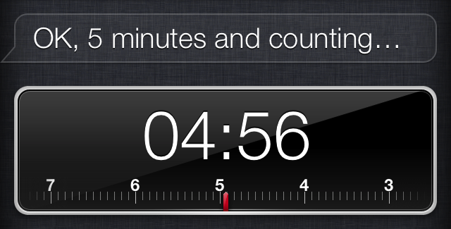 Setting Timers with Siri